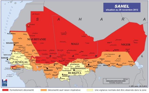 Carte de La région du Sahel